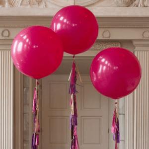 Большой фуксия воздушный шар. Компания onballoon.ru