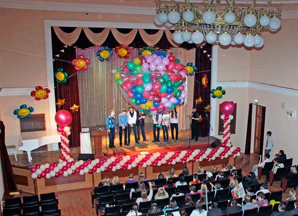 Оформление выпускного воздушными шарами