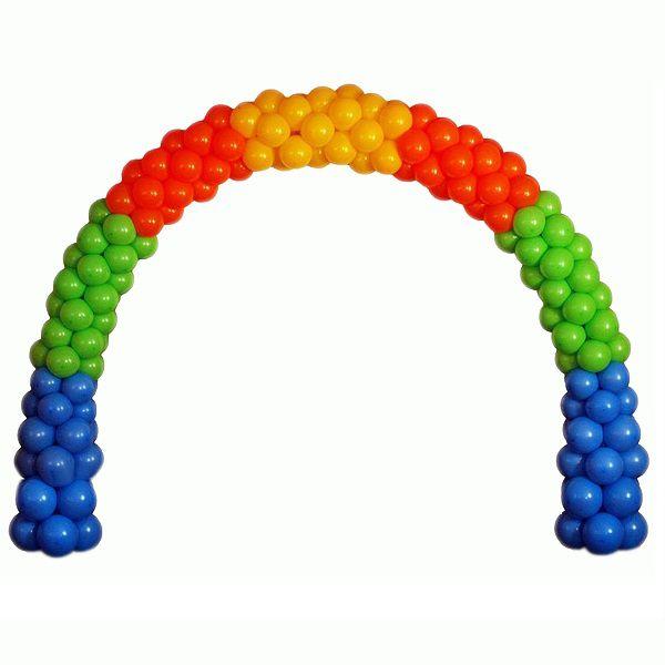 Арка плетеная из шаров «Простая на каркасе»