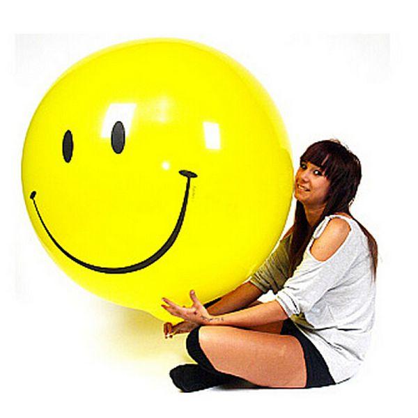 Большой воздушный шар смайл. Компания onballoon.ru