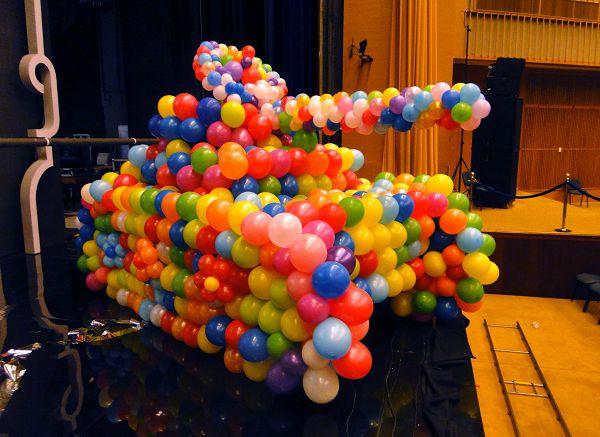 Оформление шарами для концерта