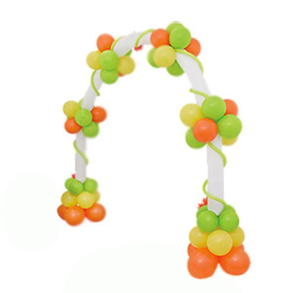 Арка плетеная из шаров «Цветы на каркасе»