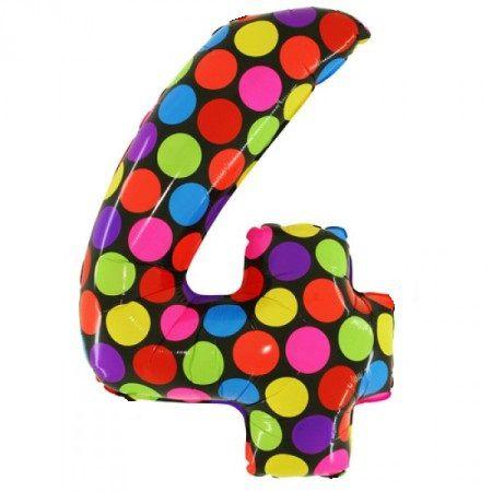 Цифра 4 из воздушных шаров
