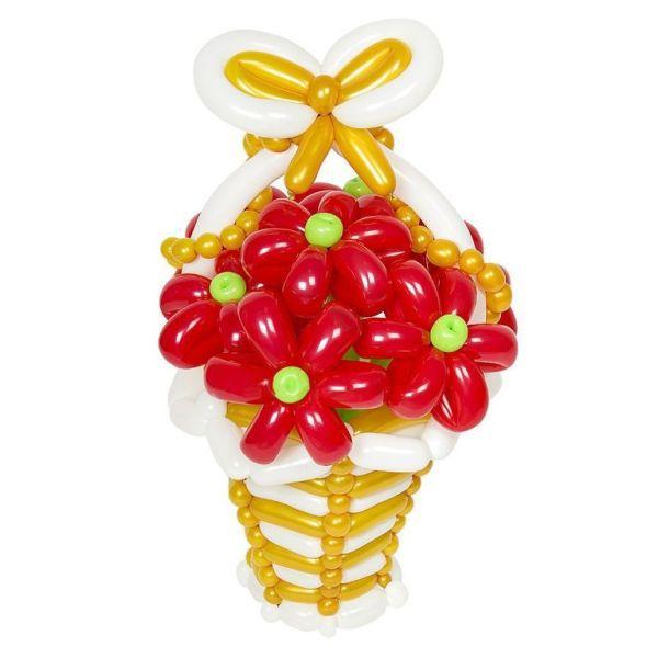 Корзинка с цветами из шаров