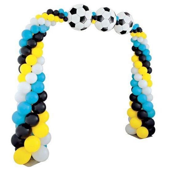Арка плетеная из шаров «Футбол»