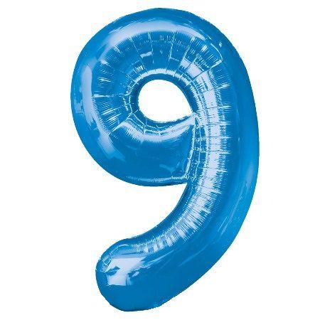 Шар (40''/102 см) Цифра, 9, Синий
