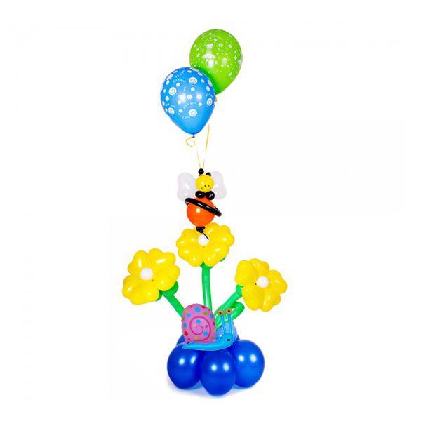 Букет цветов из шаров «Пчелка»
