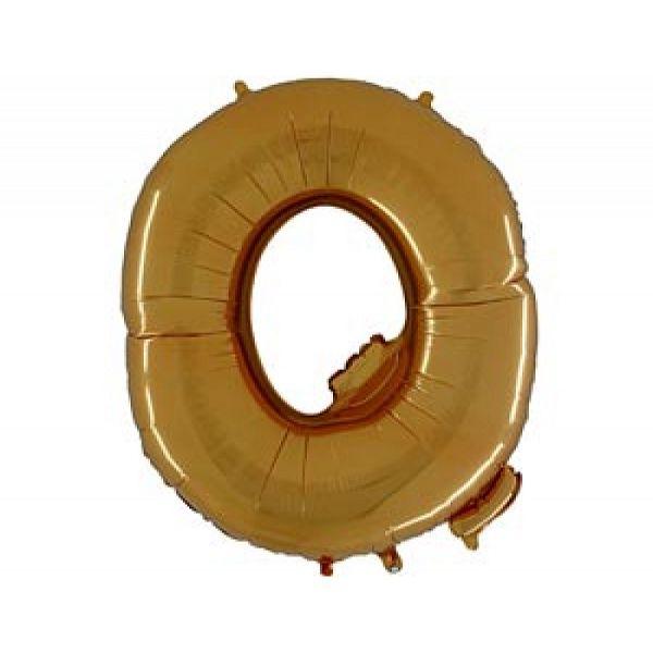 """Буква Q 40"""" Gold"""
