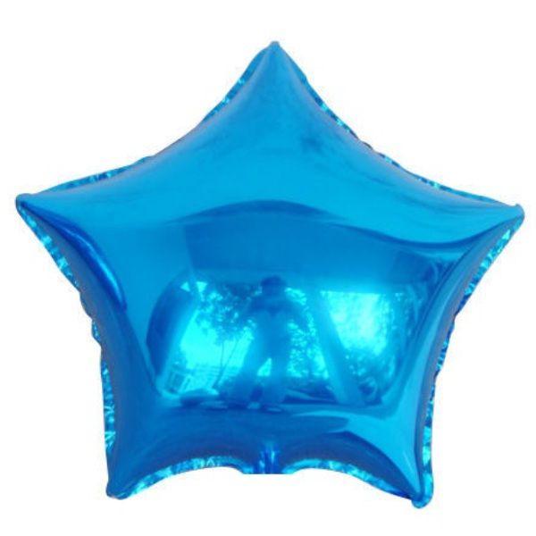 Шар (46 см) Звезда, Синий