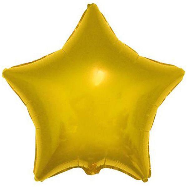 Шар (46 см) Звезда, Золото