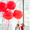 Большой красный воздушный шар. Компания onballoon.ru