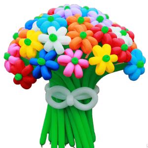 Цветы плетеные из воздушных шаров