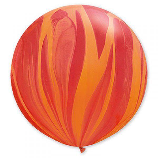 Шар (36''/91 см) Супер Агат Red Orange