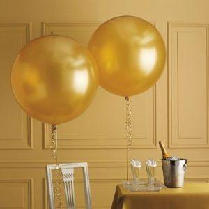 Большой золотой воздушный шар. Компания onballoon.ru