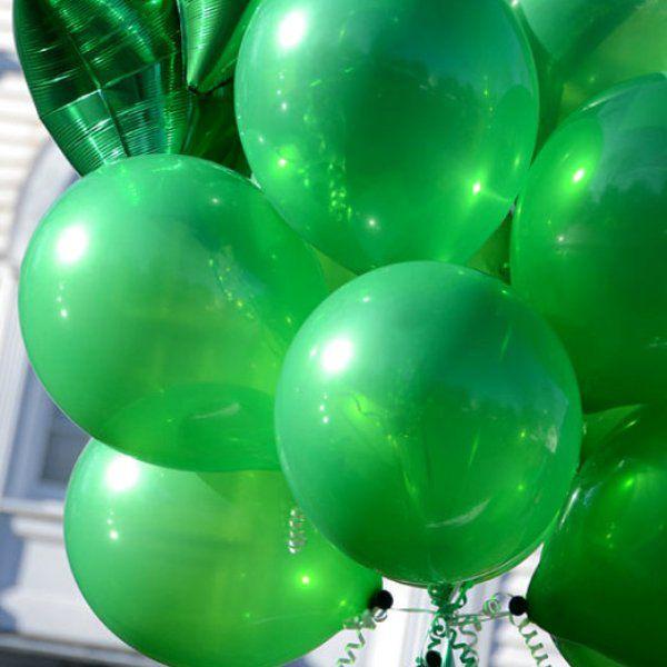 Шары под потолок Темно-зеленый пастель