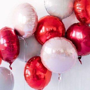Воздушные шары круги без рисунка
