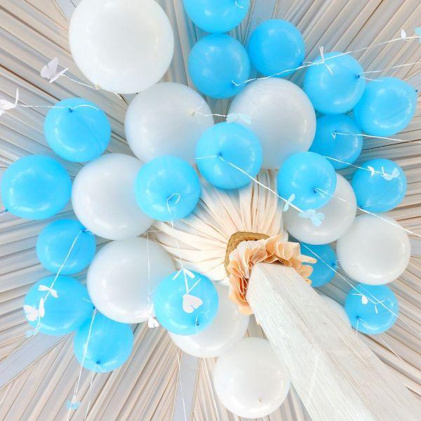 Шары под потолок голубой пастель