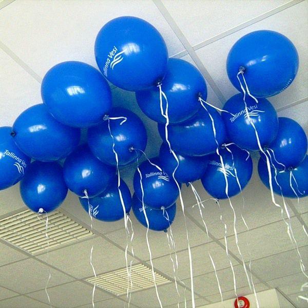 Шары под потолок синий пастель
