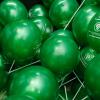 Шары под потолок Зеленый металлик