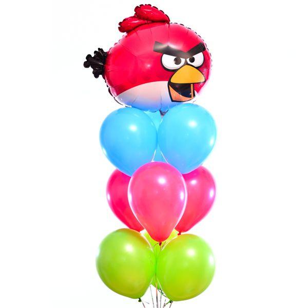 Букет из шаров « Angry Birds-Красная птичка»