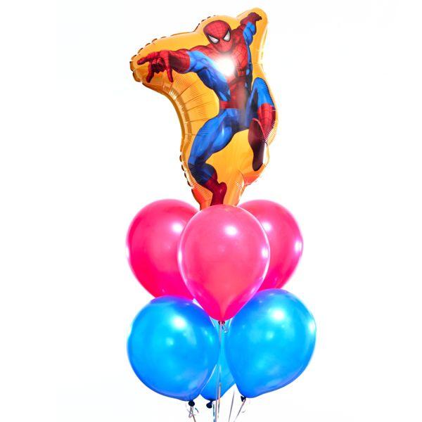 Букет из шаров «Человек Паук»
