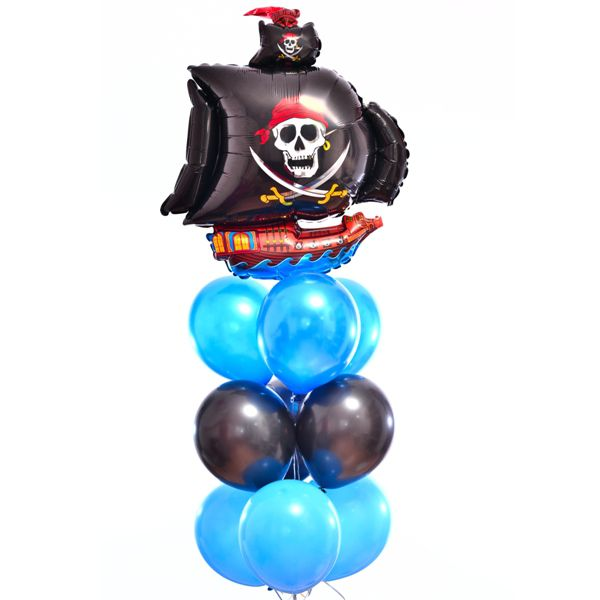 Букет из шаров «Черная Жемчужина»