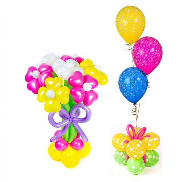 Букет из шаров «Фиалки в подарок»
