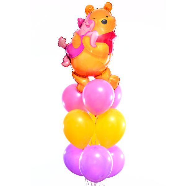 Букет из шаров «Винни Пух и Пяточек»