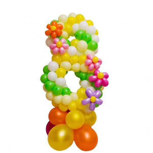 Цифра 8 плетеная из шаров