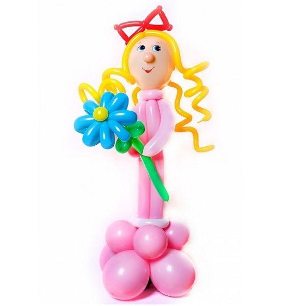 Фигура из шаров «Девочка с васильками»