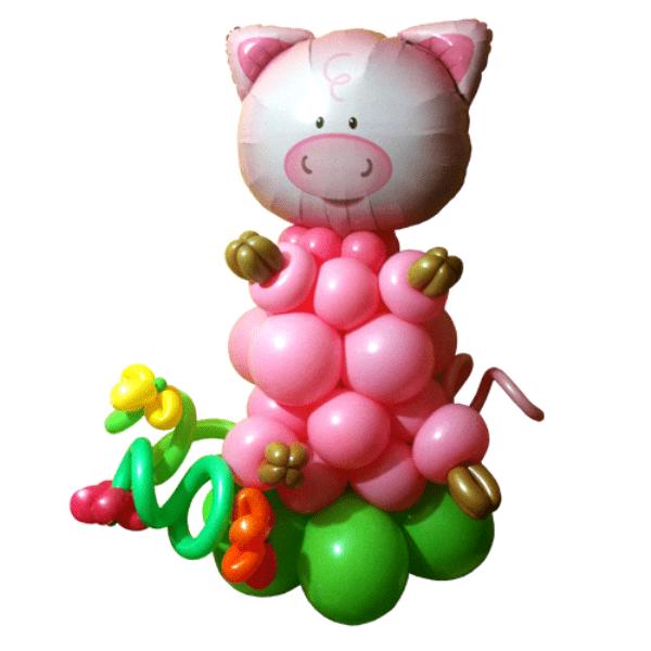 Фигура из шаров «Хрюша»