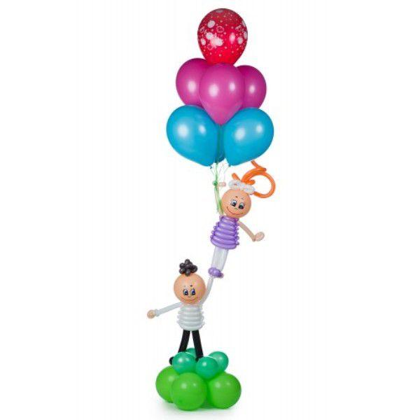 Фигура из шаров «Летящие человечки»