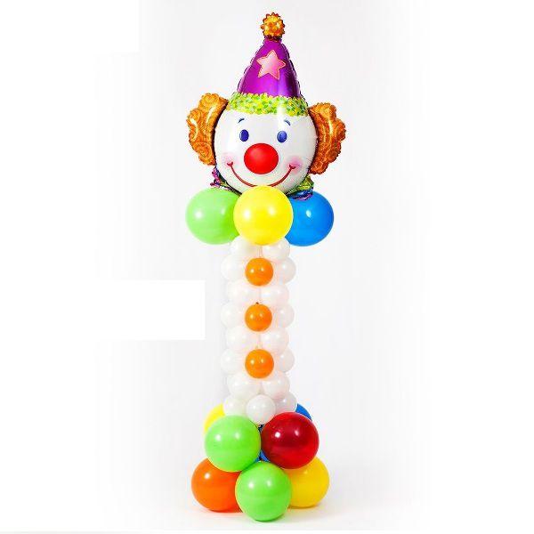 Фигура из шаров «Разноцветный клоун»