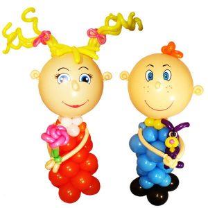 Фигуры из шаров мальчики и девочки