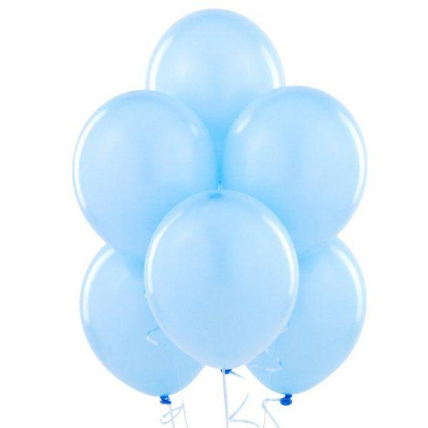 Облако из голубых шаров с гелием