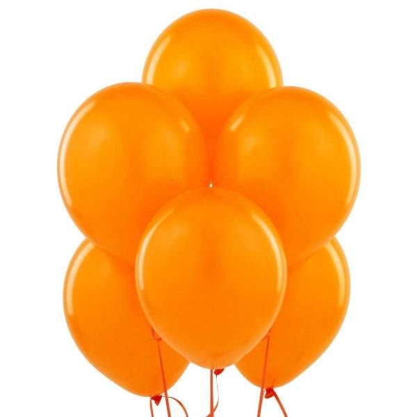 Облако из оранжевых шаров с гелием