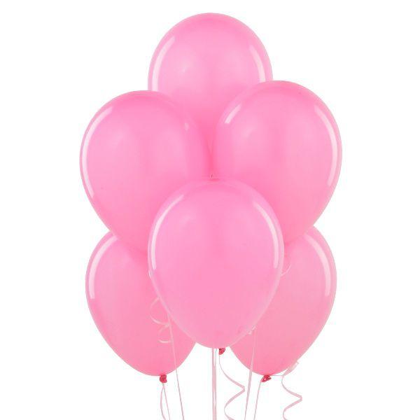 Облако из розовых шаров с гелием