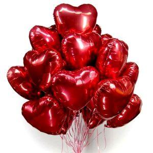 Воздушные шары сердца без рисунка