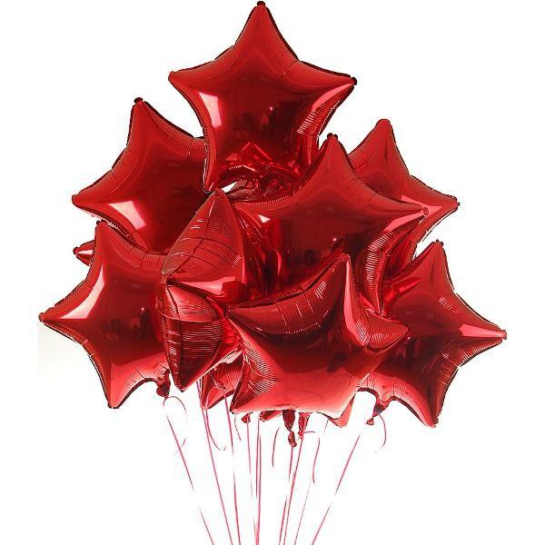 Облако из шаров «Красные звезды»