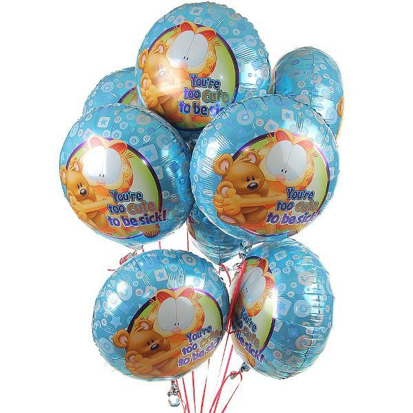 Облако из шаров «С днем рождения. Гарфилд.»