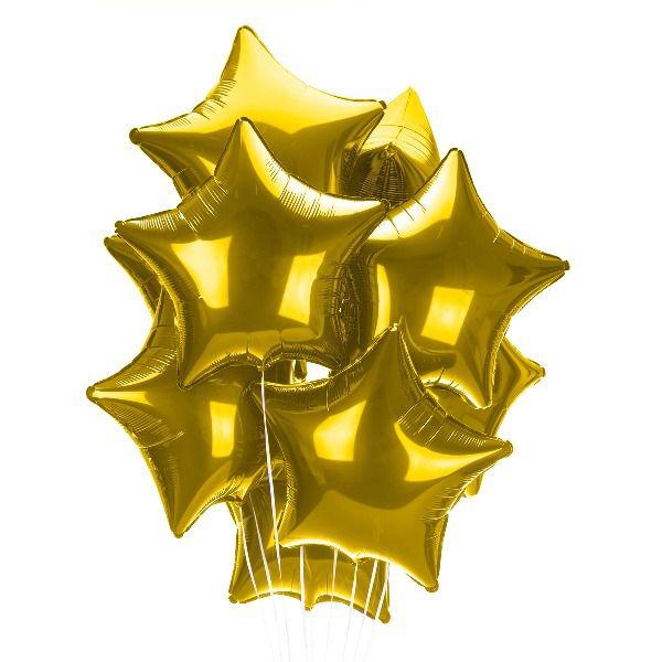 Облако из шаров «Золотые звезды»