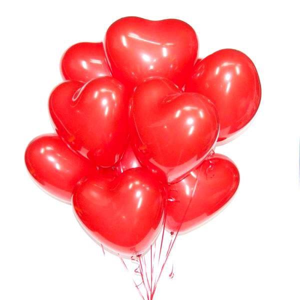 Облако из шаров пастель « Красные сердца»