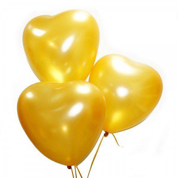 Облако из шаров пастель « Золотые сердца»