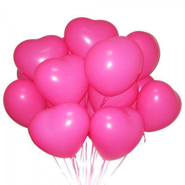 Облако из шаров пастель «Розовые сердца»