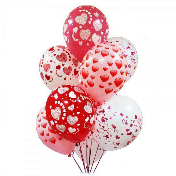 Облако из шаров с гелием «Любовь»