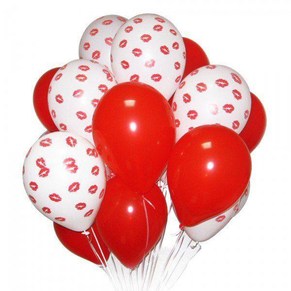 Облако из шаров с гелием «Воздушный поцелуй»