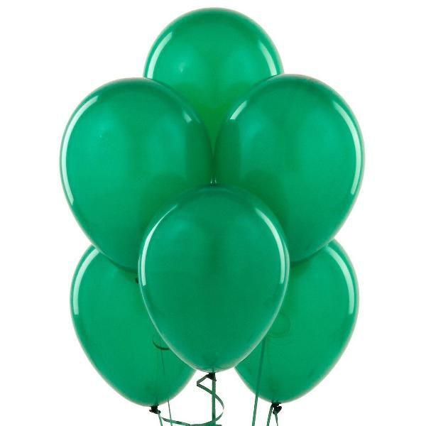 Облако из зеленых шаров с гелием