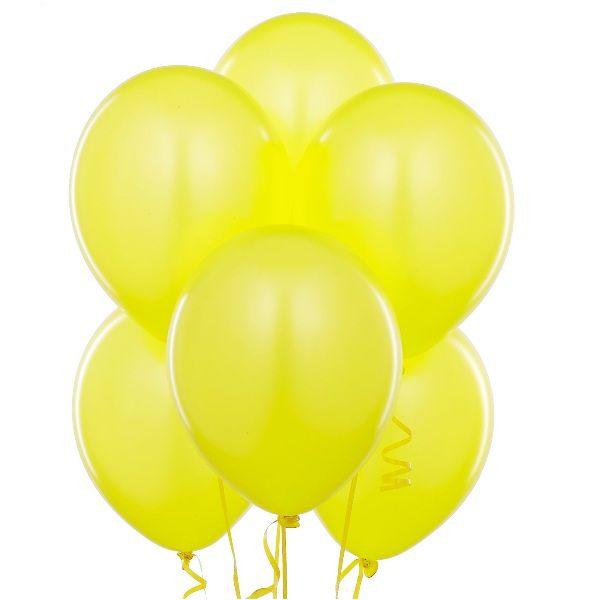 Облако из желтых шаров с гелием