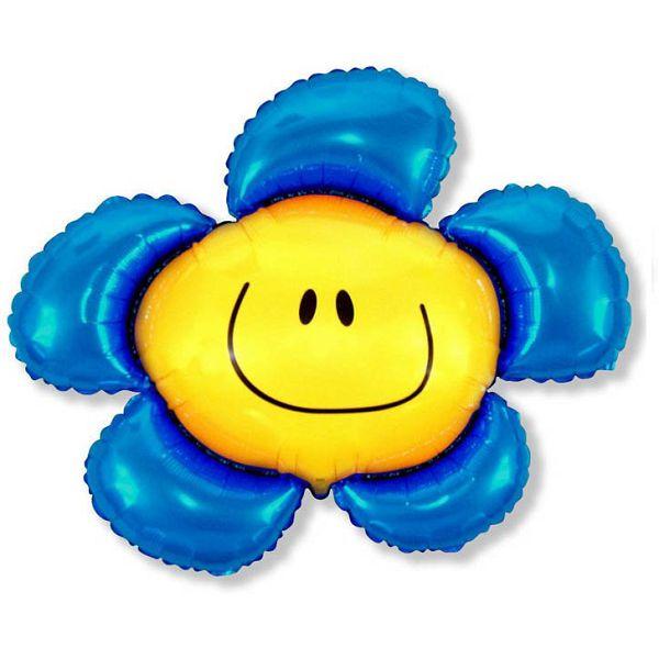 Шар (104 см) Фигура, Солнечная улыбка, Синий.