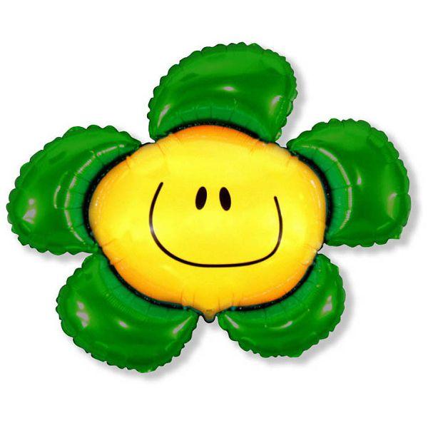 Шар (104 см) Фигура, Солнечная улыбка, Зеленый.